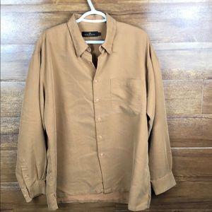 Men's Bugatchi Uomo Button Front Shirt Rayon Large